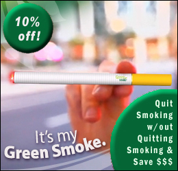 Save 10% with a GreenSmoke eCigarette Discount Coupon!