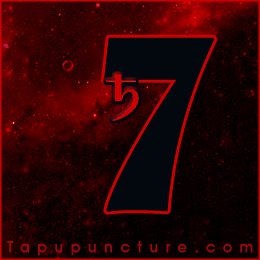 In numerology the seven corresponds with the planet saturn.